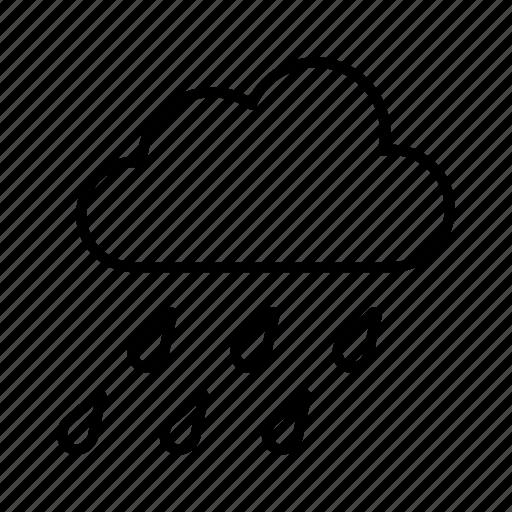 cloud, rain, raining, rainy, season, windy icon