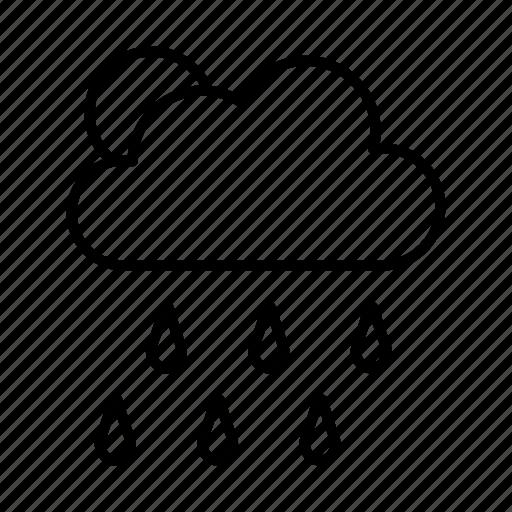 cloud, rain, raining, rainy, season, sun icon