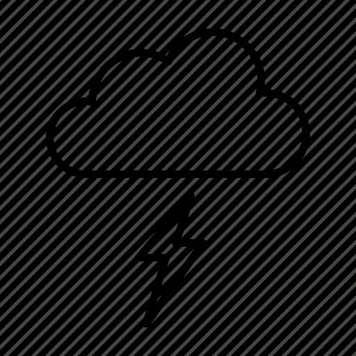 lightning, rain, rainy, season, thunder icon