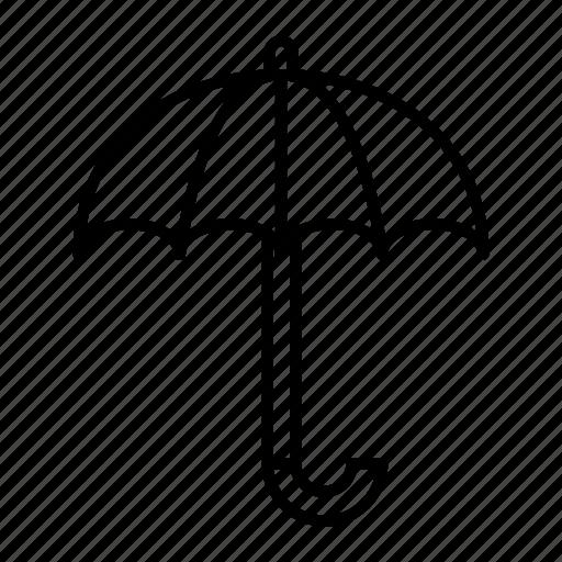 open, rain, rainy, season, umbrella icon