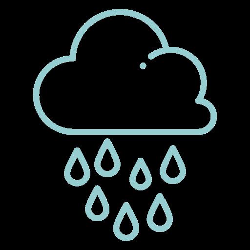 droplets, heavy rain, raindrops, raining, weather icon