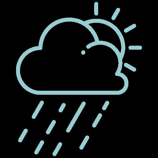 cloud, day, forecast, rain, raining, sun, sunshine icon