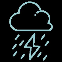 heavy rain, lighting, rain, storm, thunder, weather icon