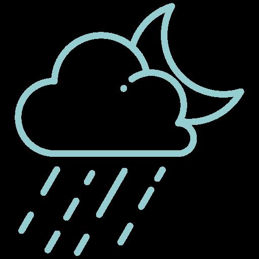 moon, night, rain, rainy, storm, weather icon