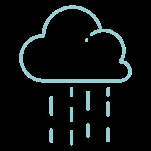 cloud, no wind, rain, raining, weather icon