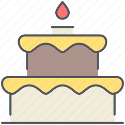 birthday, cake, celebration, dessert, party, present, sweet icon