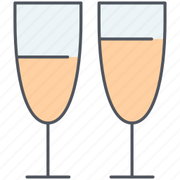 alcohol, celebration, champagne, drinks, glasses, party, romantic icon