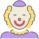 birthday, celebration, circus, clown, jester, joker, party icon