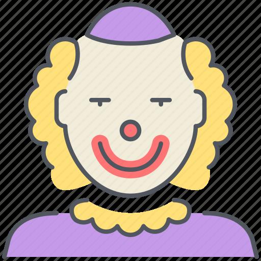 birthday, celebration, circus, clown, jester, joker, party icon