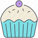 bakery, celebration, cupcake, dessert, muffin, party, sweet icon
