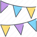 birthday, celebration, decoration, holiday, party, stripes icon