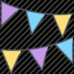 birthday, celebration, decoration, holiday, party, stripes icon
