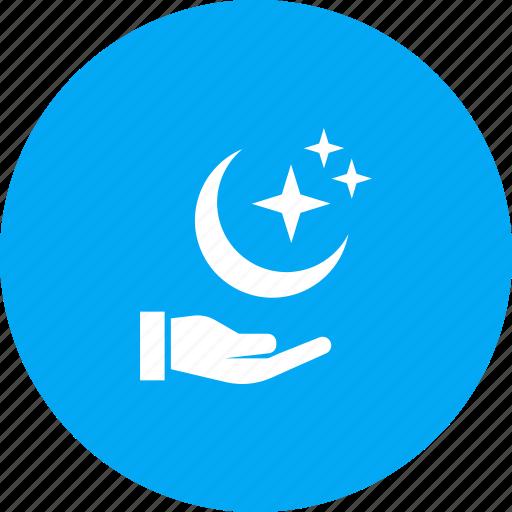 crescent, festival, islam, moon, ramadan, ramzan, star icon