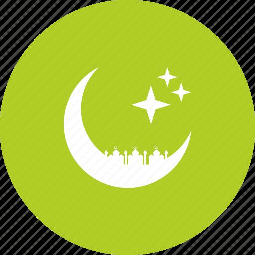 crescent, islam, mosque, prayer, ramadan, ramzan, stars icon