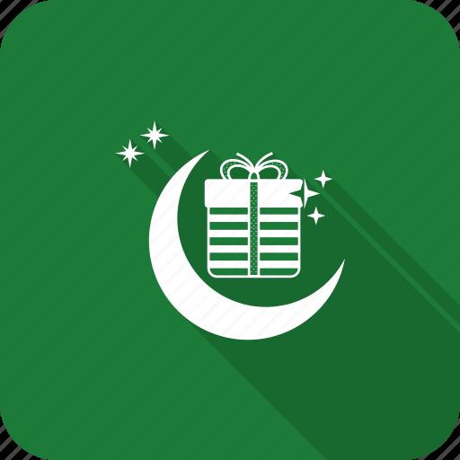 celebrate, festival, gift, present, ramadan, stars, xmas icon