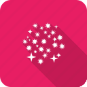 blast, celebration, crackers, festival, fireworks, stars icon