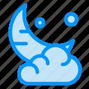cloud, cresent, moon, new, ramadan