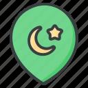 location, mosque, ramadan, muslim, mosques, navigation, marker