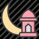 ramadan, crescent, moon, lantern, mosque, arabic, muslim