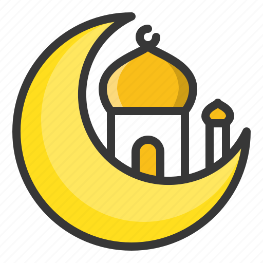 abrahamic, islam, moon, mosque, ramadan, religion icon