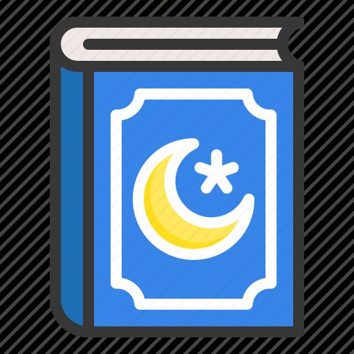 abrahamic, book, islam, quran book, ramadan, religion icon