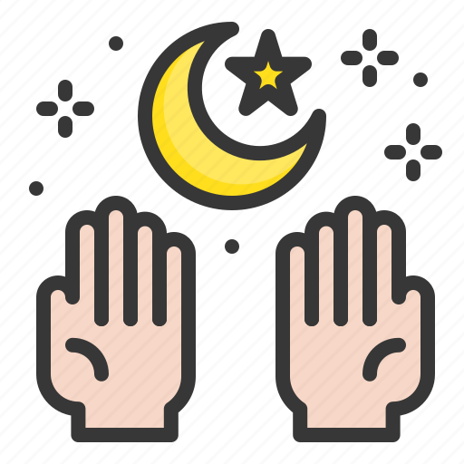 abrahamic, islam, moon, muslim, ramadan, religion, salat icon