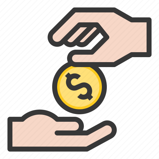 abrahamic, charity, coin, giving, hand, islam, ramadan icon
