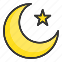 abrahamic, islam, moon, muslim moon, ramadan, religion, star icon