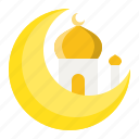 abrahamic, islam, moon, mosque, ramadan, religion icon
