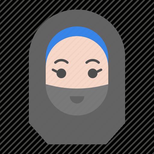 abrahamic, female, islam, muslim, ramadan, religion, woman icon