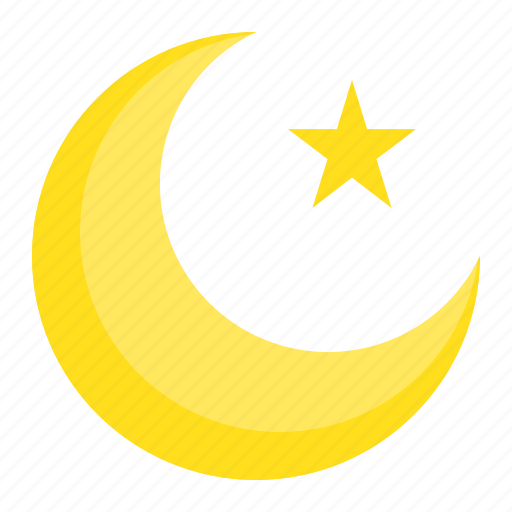 abrahamic, islam, moon, muslim moon, ramadan, religion, star icon