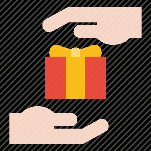 abrahamic, gift box, hand, islam, ramadan, religion icon