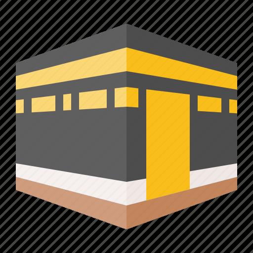 Abrahamic, islam, kaaba mecca, kabah, ramadan, religion icon - Download on Iconfinder