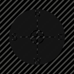 compass, direction, location icon