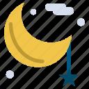 cresent, lunar, moon, night, ramadan
