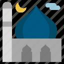islam, masjid, moon, mosque, pray