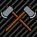 axe, wood, tree, tool