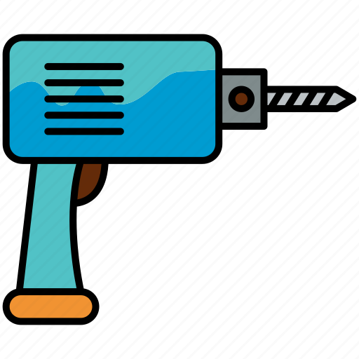 Drill, drilling, work, tool icon - Download on Iconfinder