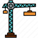 crane, construction, building, lifter