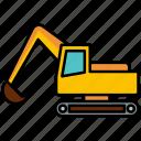 excavator, bulldozer, heavy machinery, construction