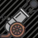 cannon, fire, fie, cannonball, shot