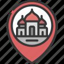 mosque, location, religion, religious, building, pin