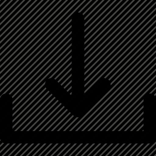 arrow, download, inbox, save, transfer icon