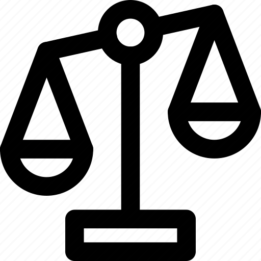 comparison, equality, justice, law, lawyer, legal, scale icon