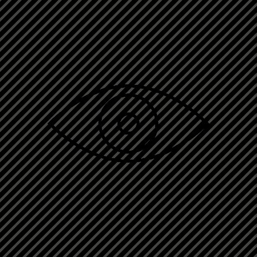 eye, eyes, visible, vision, visual icon