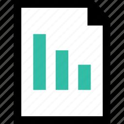 data, down, graph, report icon