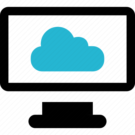 cloud, finance, monitor, pc icon