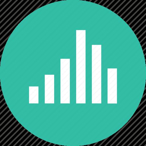 bars, data, online, web icon