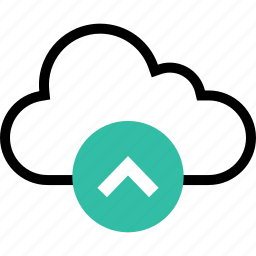 arrow, cloud, online, up, web icon