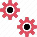 gears, online, setup, web icon